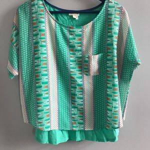 4/$25! Anthropologie Meadow Rue layered blouse